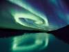 Aurora boreala verde albastru