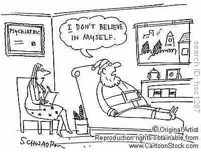 Mos Craciun la psiholog / psihiatru